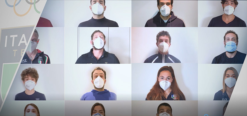 #Iplayprotected, video of Italia Team's athletes for the new phase in fight against the virus